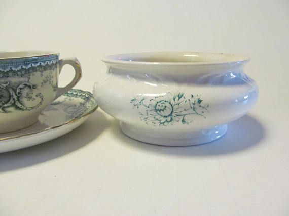 Green Transferware Soap Dish Antique Soap Dishes Green