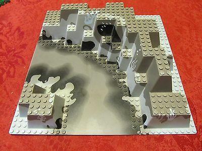 Lego-Base-Plate-6024-3D-32-x-32-canyon-blue-gray-RARE-water-mountain