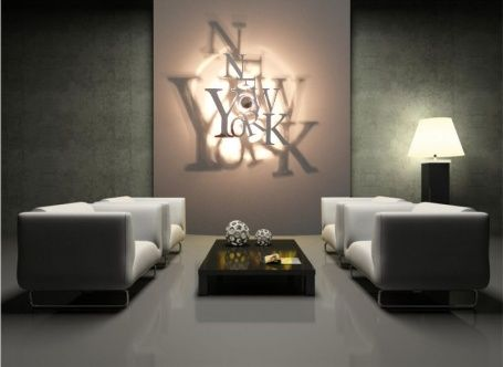 luminaire new york 5d miroir avec ombre port e au mur concept made in saint york design. Black Bedroom Furniture Sets. Home Design Ideas