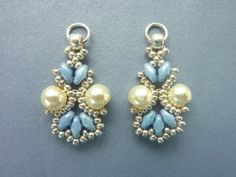 FREE beading pattern for Lotus Lace Earrings #Seed #Bead #Tutorials