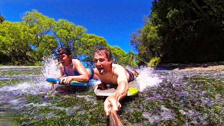 Living a Kiwi Life - Ep 22. - Epic Waterfall Slip and Slide (Rere Rocksl...
