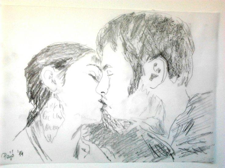 Monica & Adam kiss