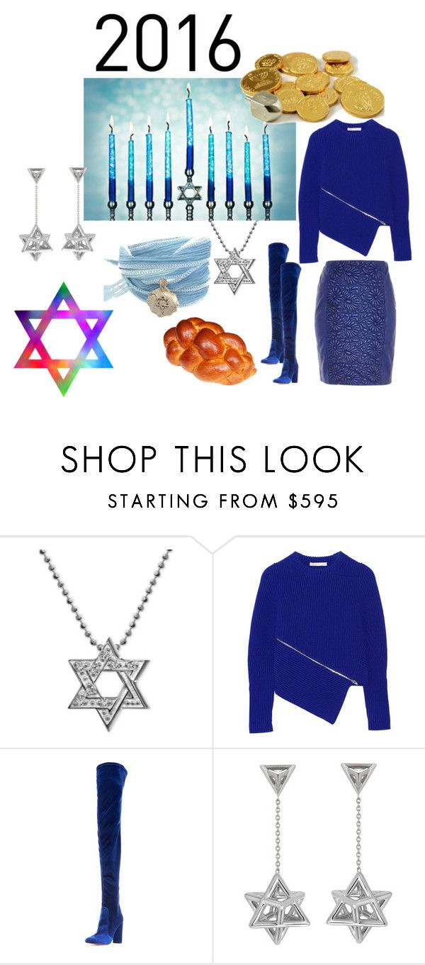 """""""Chanukah—Hanukkah : Light Over Darkness Happy Hanukkah 2016"""" by michelle858 ❤ liked on Polyvore featuring Alex Woo, Alexander Wang, Aquazzura and Catherine Michiels"""