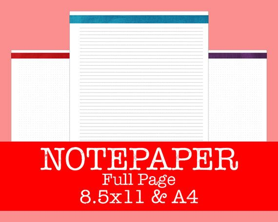 Notepaper and Dot Graphpaper Refill  Brushstrokes by OnTaskOnTime