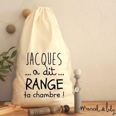 Baluchon XL Jacques a dit range ta chambre - Marcel et Lily - fée pas ci, fée pas ça