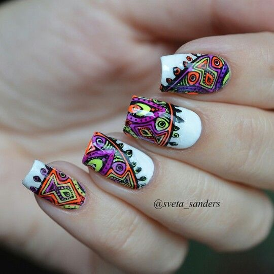 african inspired nails