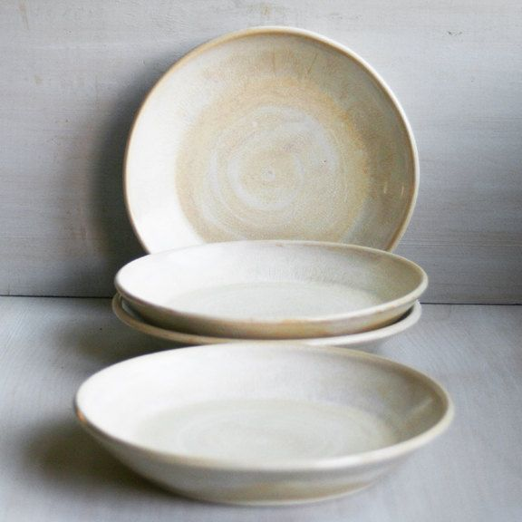 Rustic Dinner Plates Pair Of Two Handmade Ceramic Dishes