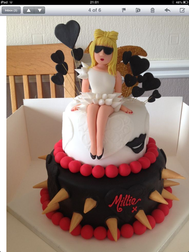 This was my daughters 16th birthday cake. She's a huge Lady GaGa fan xx