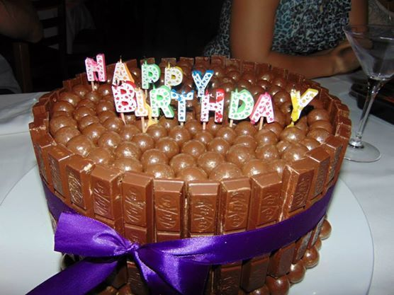 Ooooh Chocolate Kit-Kat Birthday Cake