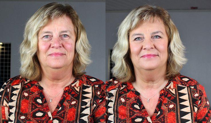 Ullas fräscha vardagsmakeup : före och efter!