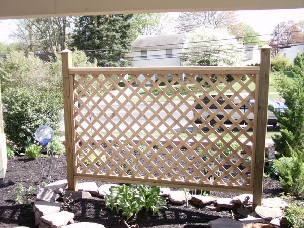 Privacy Fence ~ On The Exterior Of The Patio As A Garden Trellis. Would  Double As A Privacy Screen For The Patio
