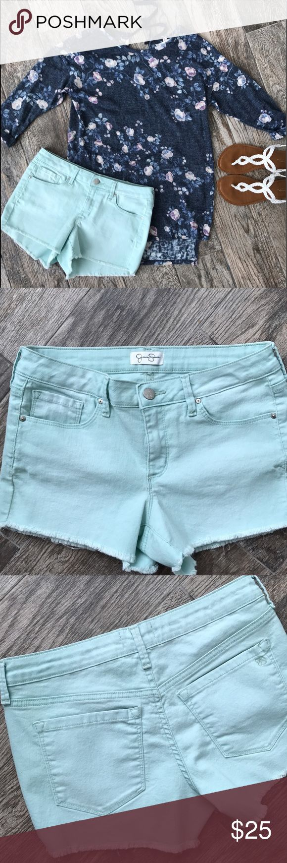 Jessica Simpson Light Blue Shorts Jessica Simpson Light Blue Shorts - Size 27 (3/4) Excellent condition. ***LC Lauren Conrad shirt is also listed in my closet ☺️ Jessica Simpson Shorts Jean Shorts