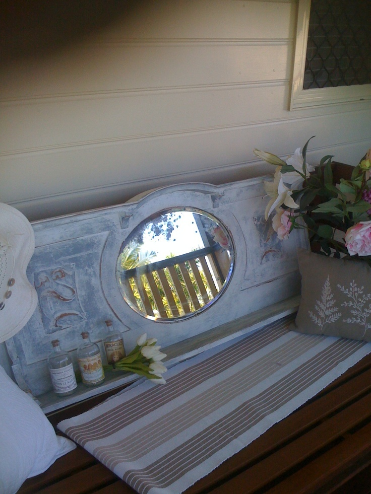 This was an old unused sideboard mirror. I reprinted and added a shelf.