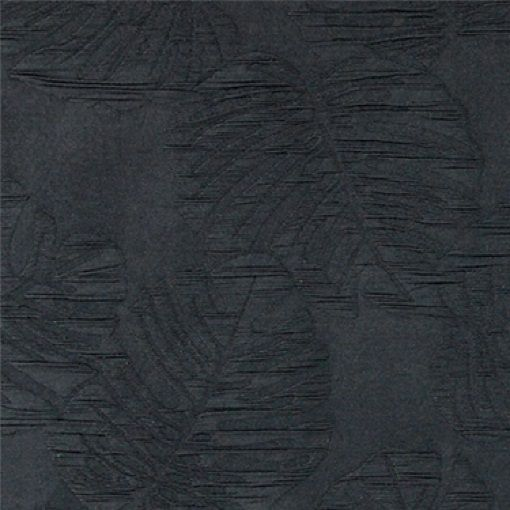 Jacquard mørk grå m store blade