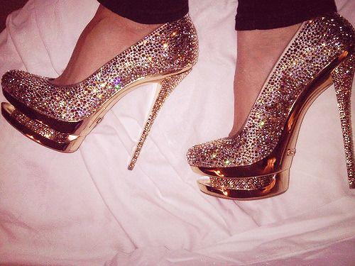 sparkly stilettos