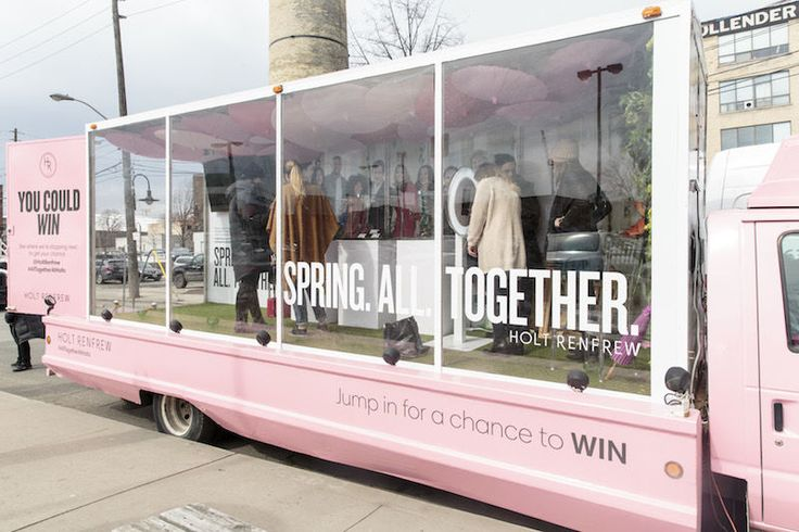 Experientail Retail Trucks - Holt Renfrew Brings its Store to the Road with a Mobile Pop-Up Shop