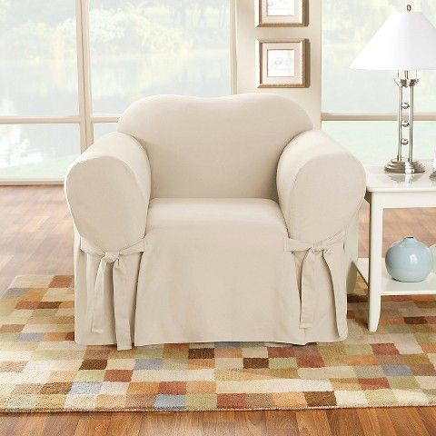 Surefit Cotton Duck Chair Slipcover For The Home
