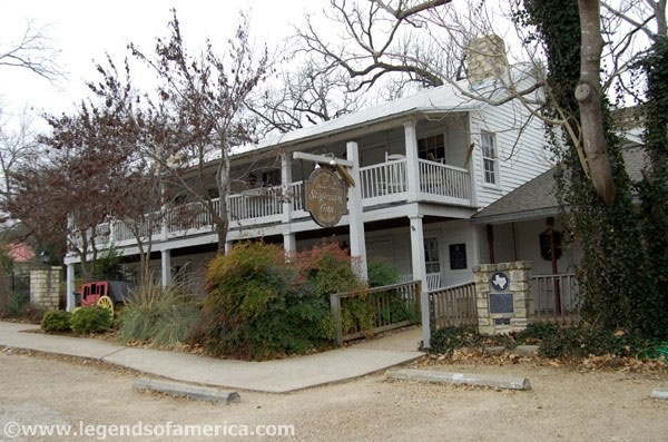 Stagecoach Inn - Salado, TX.   Built in 1870 as a stagecoach stop along the Chisholm Trail. The guest book features General George A. Custer, Robert E. Lee, and Jessie James, along with cowboys, desperadoes, and travelers.