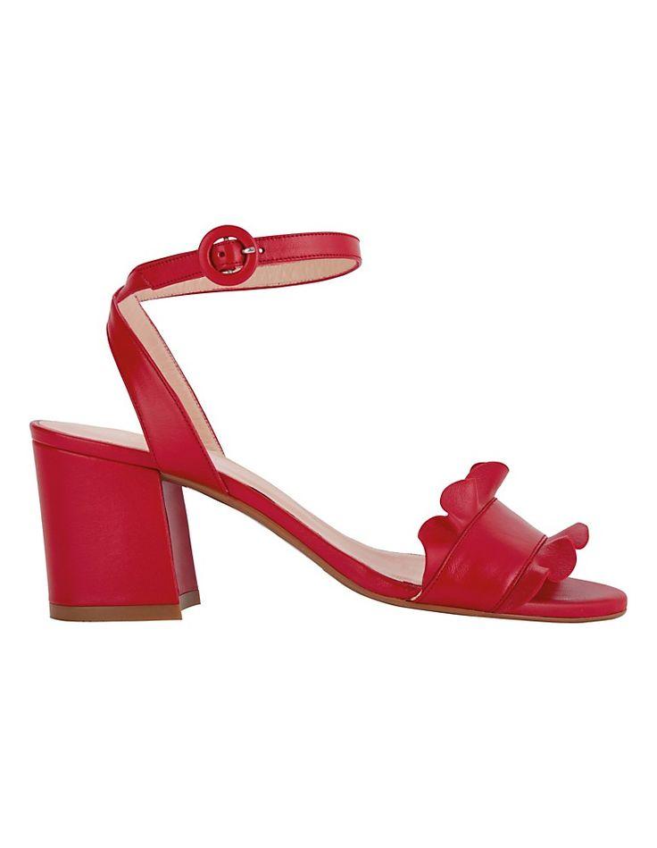 Sandalette mit Rüsche und Blockabsatz | MADELEINE Mode Schweiz