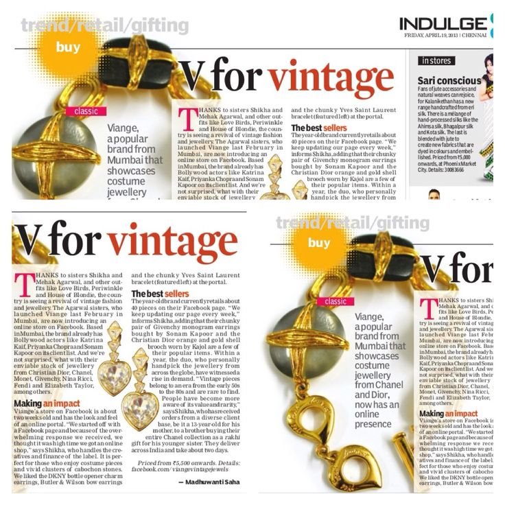 Viable featured in the Indulge newspaper! Love