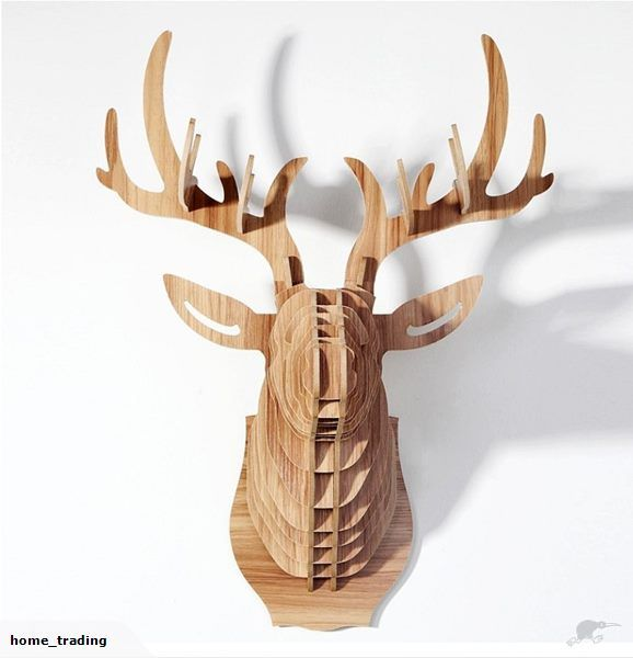 Stag Head Woodcraft Construction Kit 3D MDF Model | Trade Me