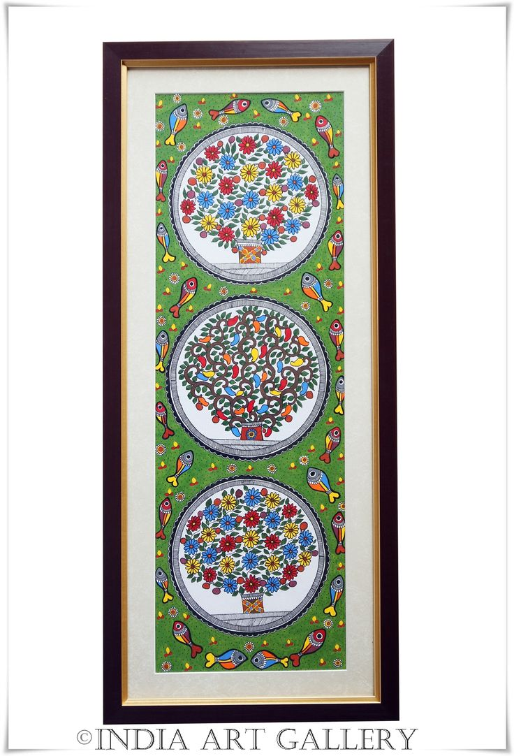 Madhubani paintings or Mithila Art is a style of Indian art painting, practiced in the Mithila region of Bihar state, India. Our Madhuba...