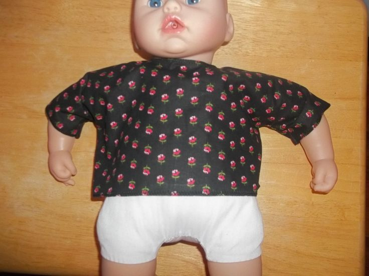 Big 18 Baby Doll clothes top black with pink flowers on it by…
