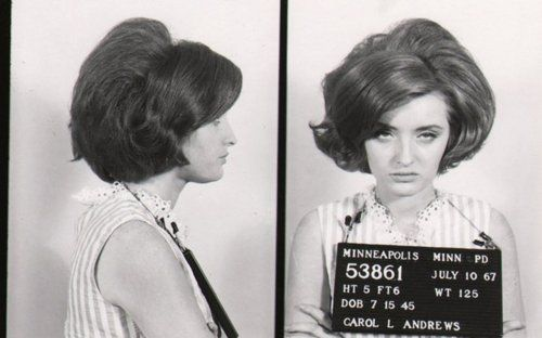 //: Face, Hairs, Vintage Mugshots, Photo, Mug Shots, Carol, Bad Girls, Girl Mugshots