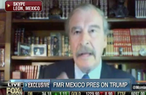 "Former president of Mexico, Vicente Fox kicked up his mocking of Trump with a video advising him to keep a cool head… and his finger off ""the button"""