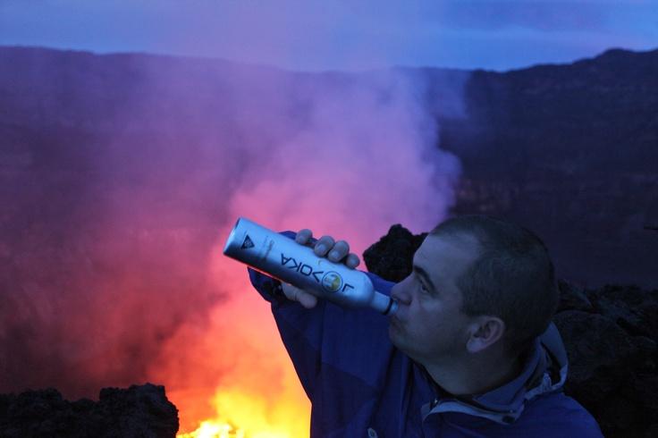 Lavoka with volcano behind me