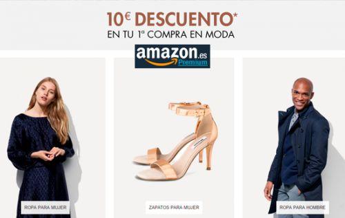 Cupón descuento de 10€ en tu 1ª compra de moda en Amazon