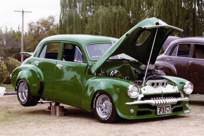 ◆ Visit MACHINE Shop Café... ◆ ~ Aussie Custom Cars & Bikes ~ (1954 FJ Holden 4-door Sedan)