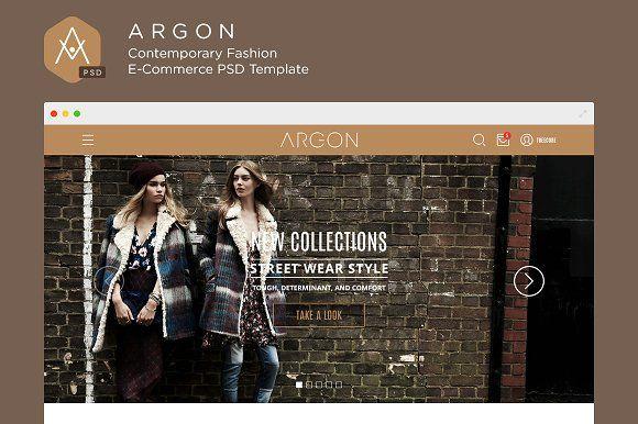 Argon WP E-Commerce PSD Template by treecore on @creativemarket