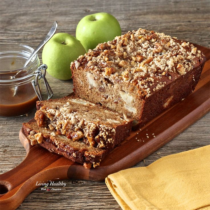 Warm Caramel Apple Pie Bread Recipe (Paleo, Gluten/Grain/Dairy-free). This is by far the best recipe I've ever tasted-perfect every single time and ohmygoodness it makes your house smell good!. By #livinghealthywithchocolate #paleo #glutenfree #applebread