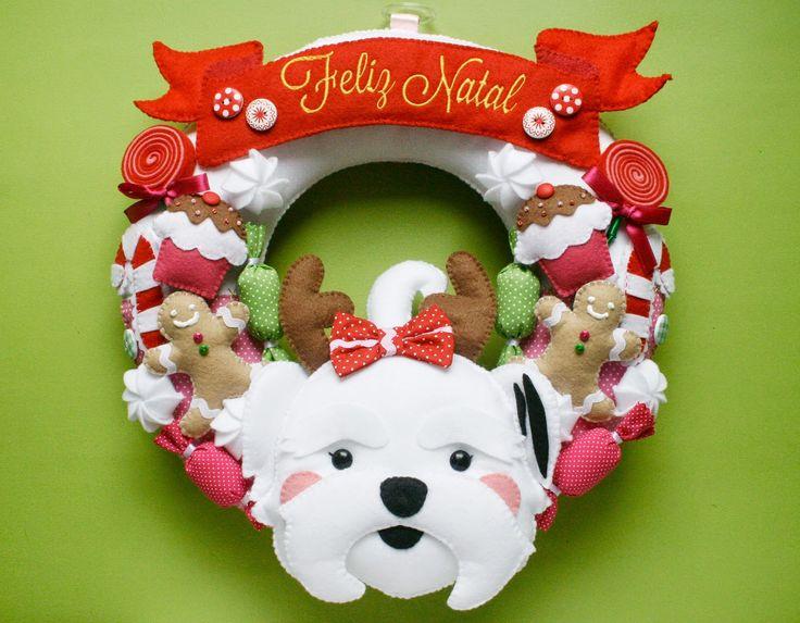 Guirlanda de Natal de feltro <3