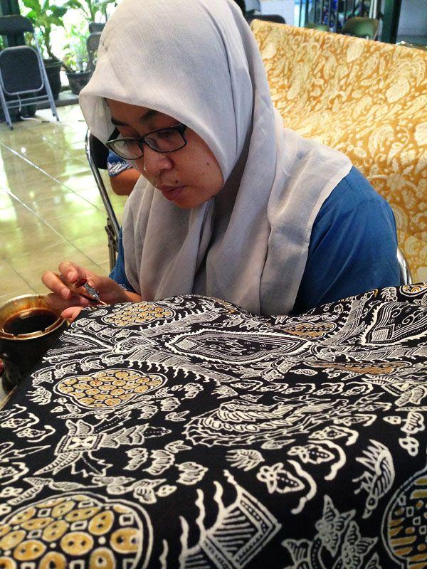 Batik in Yogyakarta, Indonesia