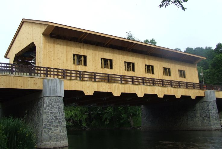Groton Street Covered Bridge in Pepperell, MA