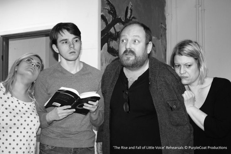 A rehearsal for The Rise and Fall of Little Voice. Hannah, Jamie, Jay and Lisa have just heard Little Voice sing for the first time.