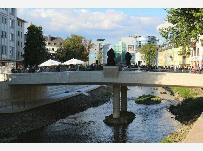Stadt Siegen - Oberstadtbrücke (neuer Standort von Henner und Frieder