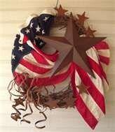 American Flag Wreath decor-more