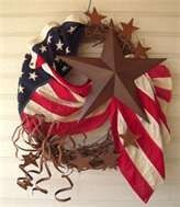 American Flag Wreath decor-more