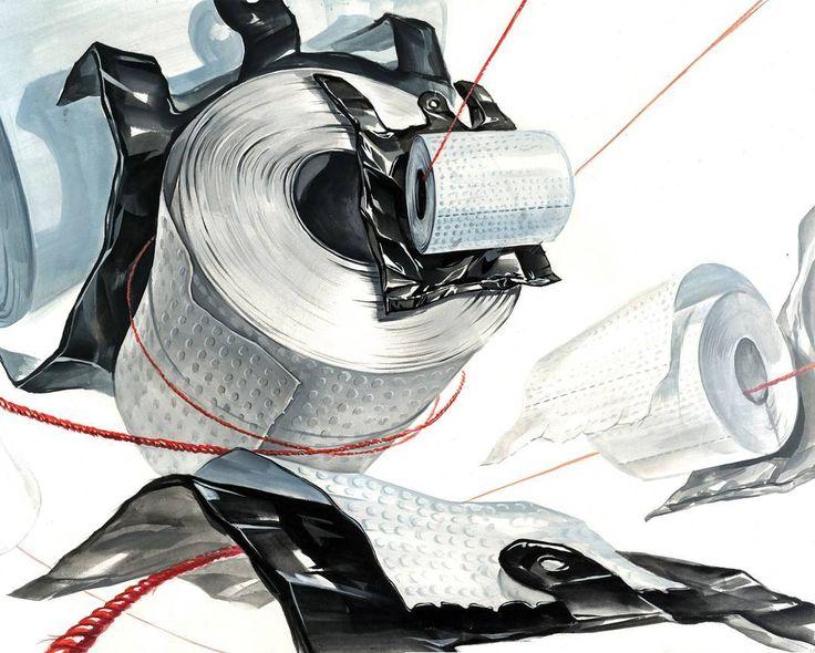 급할때 가장 필요한 것..... . . . . . . . #기초디자인 #개체표현 #개체묘사 #미대입시생 #미술 #미술학원 #미대입시 #비닐봉지 #화장지 #휴지 #티슈 #질감 #실 #봉지 #design #drawing #dessin #composition #watercolor #화면구성 #toiletroll #toiletpaper #tissue #plasticbag #thread
