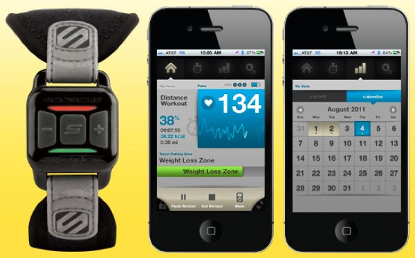 Scosche myTrek sends workout vitals to your iphone... cool!