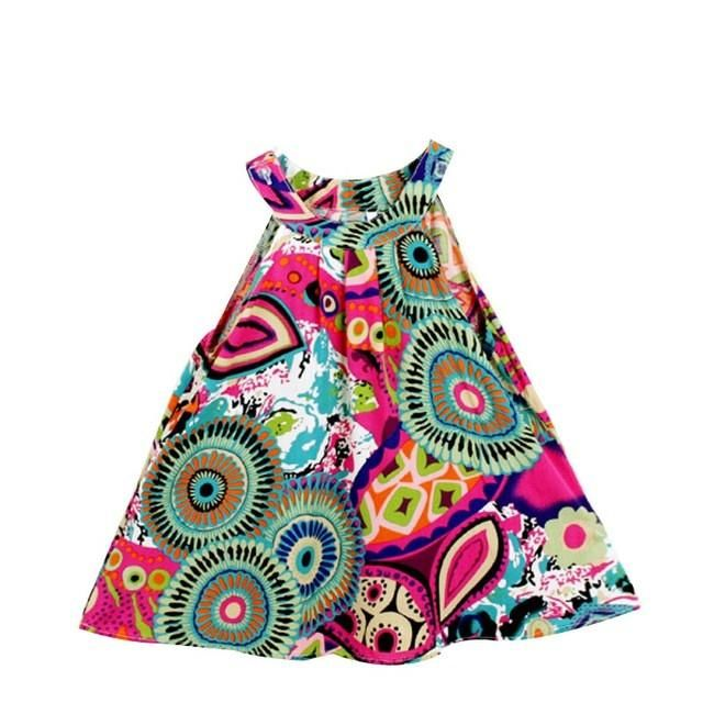 3-8Y Toddler Kids Clothes Summer Girls Dress Sleeveless Floral Princess Party Dress A-Line  Child Dresses