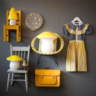[alice in wonderland] Toadstool Lamp Medium - Yellow