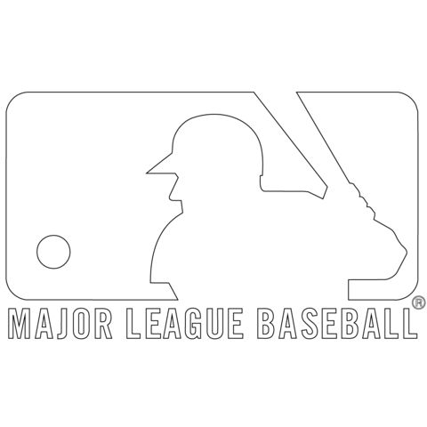 free coloring pages unc logo | MLB Logo Coloring page | Baseball coloring pages, Baseball ...