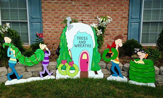 Yard Art Decoration Whoville Tree