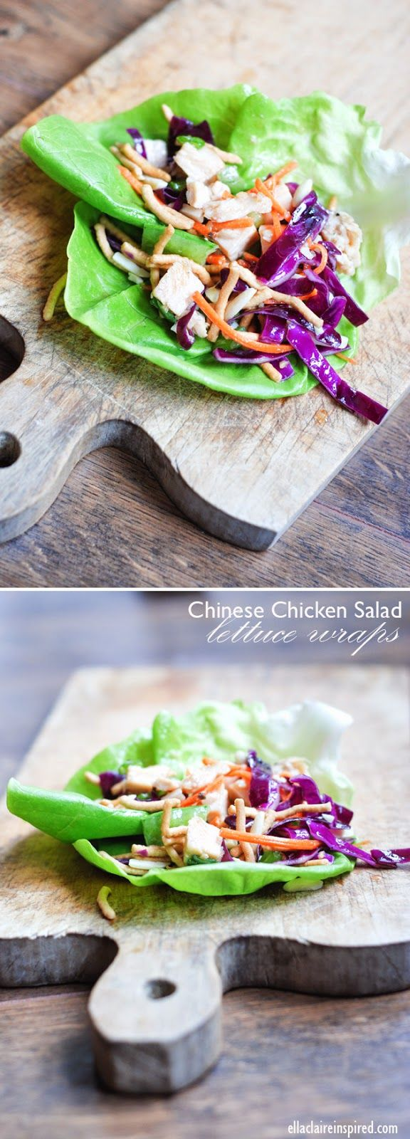 Light and Delicious Chinese Chicken Salad Lettuce Wraps | Homemade Asian DressingLettuce Wraps, Clear Ella, Homemade Asian, Chicken Salads, Asian Dresses, Healthy Eating, Salad Lettuce, Delicious Chinese, Chinese Chicken Salad