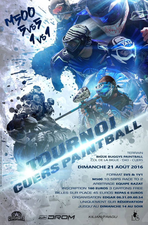 Affiche Tournoi Cuers Paintball
