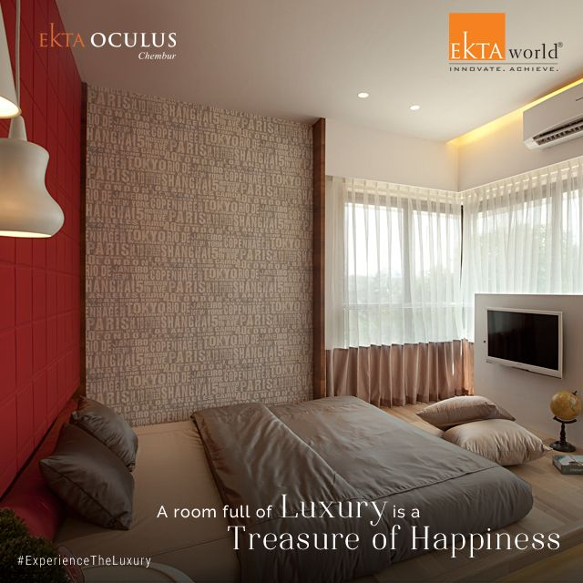 Ekta Oculus, your own bundle of happiness is a tribute to new-age architecture, luxury and style. Ready for possession with Occupation Certificate. #ExperienceTheLuxury #ektaworld #EktaOculus #Happiness #Treasure #ReadyPossession #OccupationCertificate #Chembur